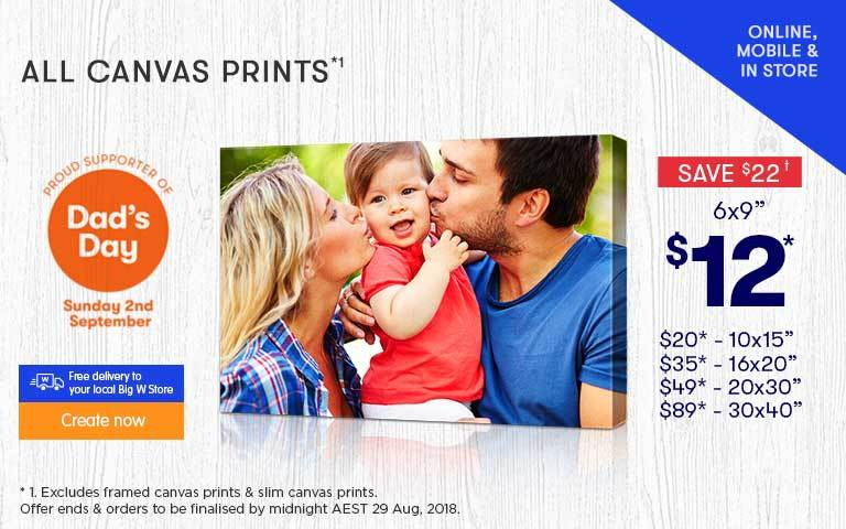 Canvas Prints Offer - ends 05.05.17 & 10.05.17