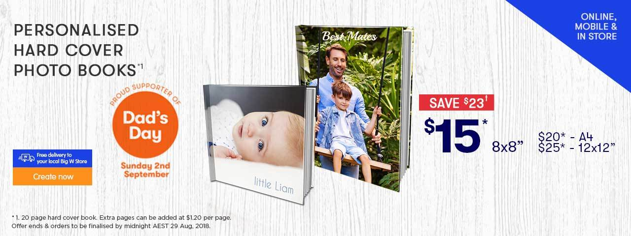 Home - Personalised Hard Cover Photo Books offer - ends 29.08.18