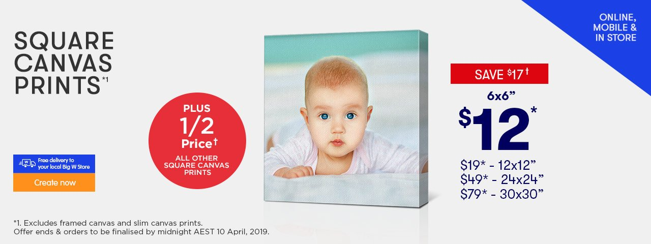 Home - Square Canvas offer - ends 27.02.19