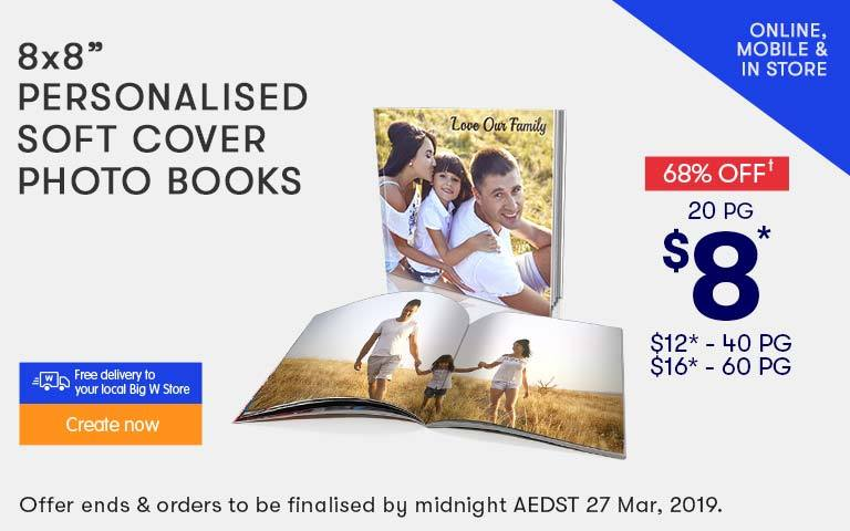 Home - Personalised Soft Cover Photo Books offer - ends 20.02.19