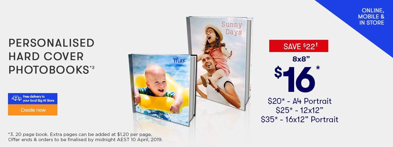 Home - Personalised Hard Cover Photo Books offer - ends 20.02.19