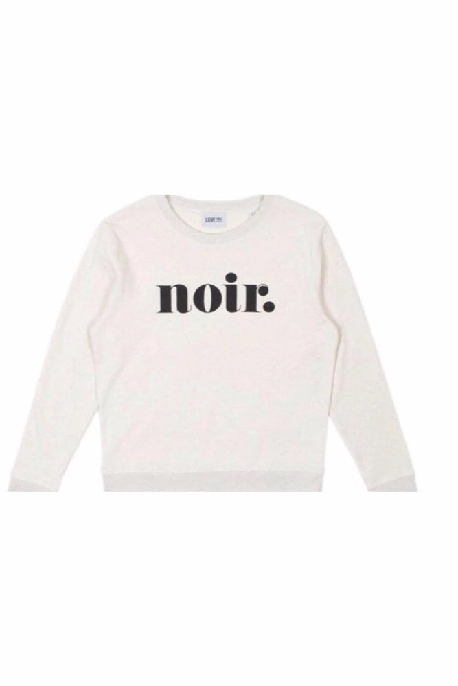 Sweatshirt | Noir | White