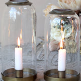 Glass Bell with Candlestick | Small