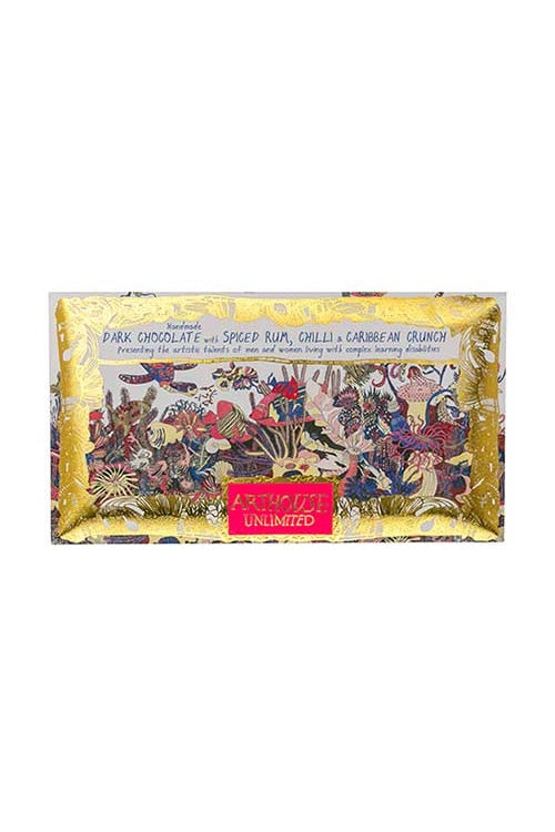 Angels of The Deep Chocolate Bar - Dark Chocolate with Spiced Rum, Chilli & Caribbean Crunch