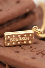 Gold Plated Bourbon Biscuit Necklace