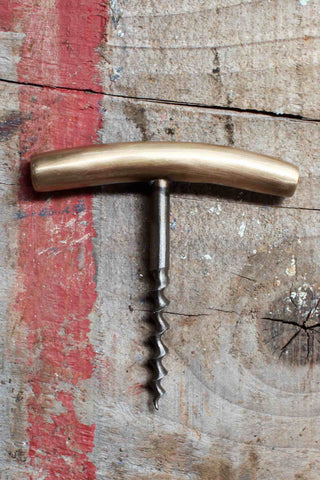 Slim Vintage Gold Corkscrew