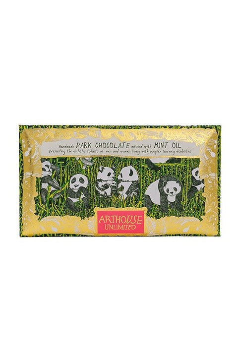 Panda Bar - Handmade Dark Chocolate infused with Mint Oil