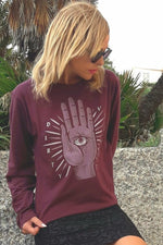 Long Sleeve T-Shirt | The Beholder | Burgundy