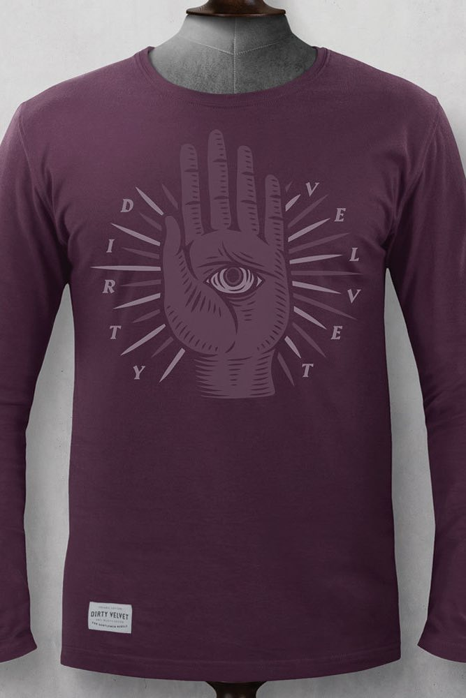 The Beholder Long Sleeve T-Shirt | Burgundy
