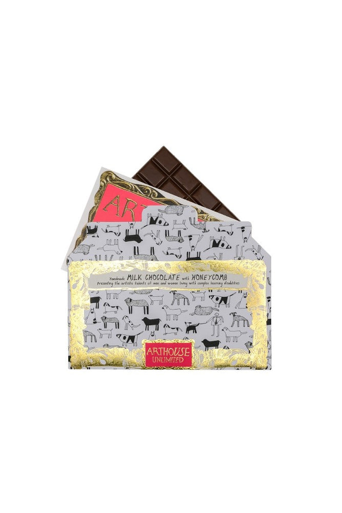 Dogs Bar - Handmade Milk Chocolate with Honeycomb