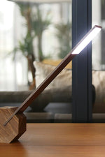 Octagon One Desk Lamp - Walnut