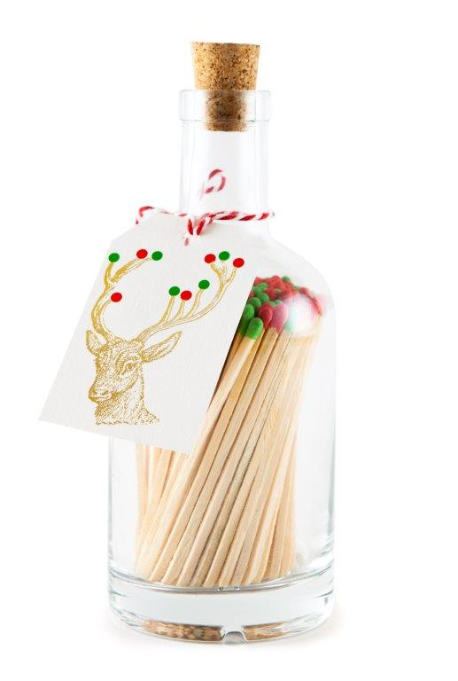Rudolph with Coloured Baubles Bottle of Matches