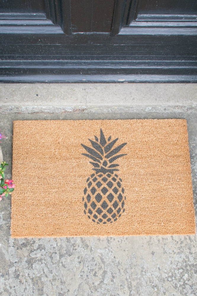 Pineapple Doormat - Grey