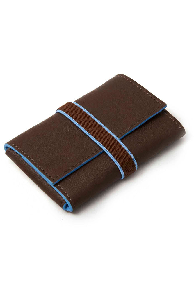 Leather Wallet | Marbella | Brown & Blue