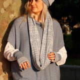 Copy of Cashmere Blend Twill Hat | Silver & White