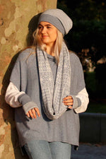 Cashmere Blend Tunic | Silver