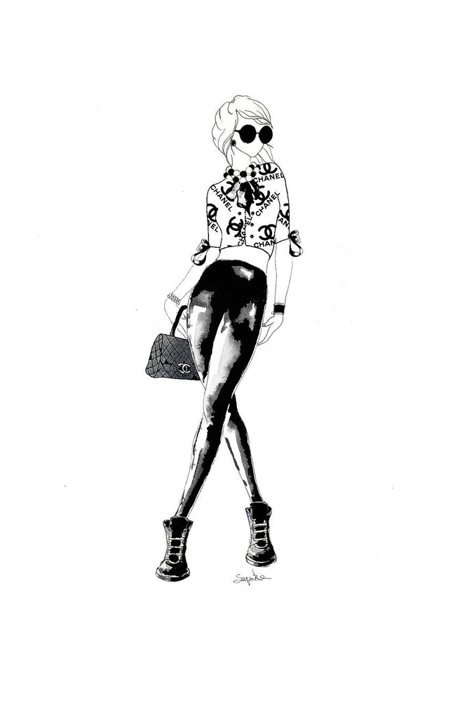 Sopiko B4 Framed Black & White Print | Chanel Look