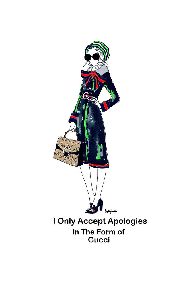 Sopiko B4 Framed Colour Print - Gucci Apology