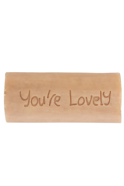 Your Lovely - Figureheads Design Tubular Inscribed Soap - Amber and Tonka Bean