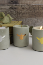 Concrete Bee Candle | Copper | Rosewood & Velvet