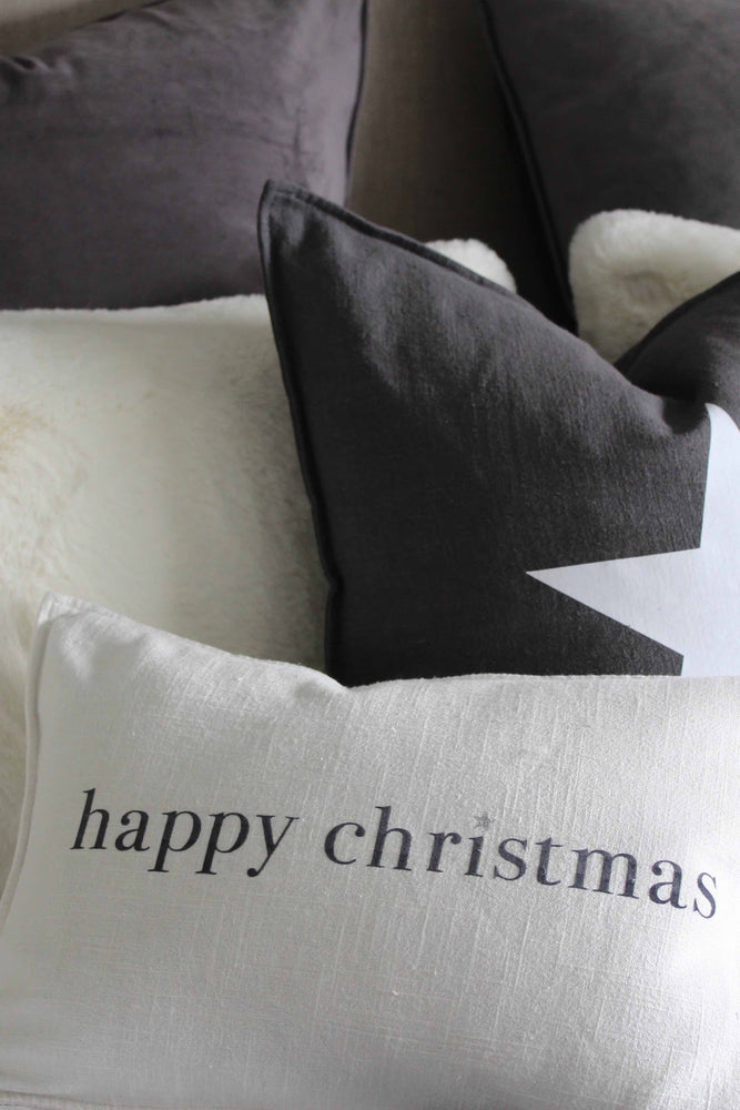 Oblong Christmas Cushion | Off White