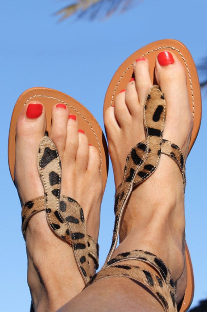 Cobra Wrap Sandals | Leopard