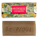 Be Proud - Dinosaurs Design Organic Tubular Inscribed Soap - Rhubarb and Ginger