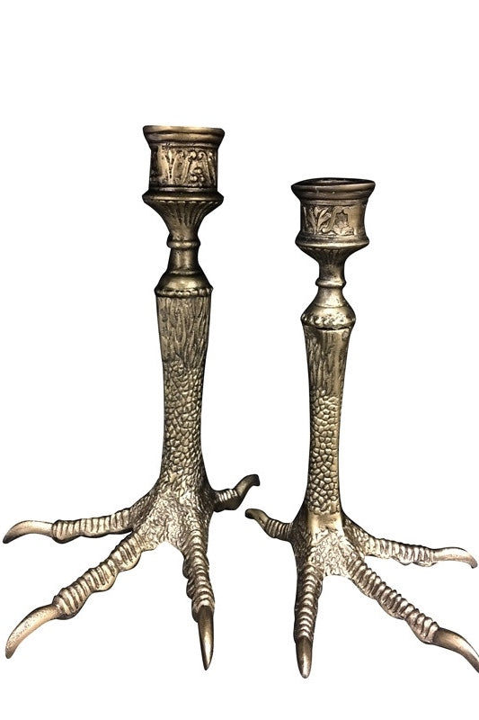 Candle Holder | Glam Birds Feet | Gold