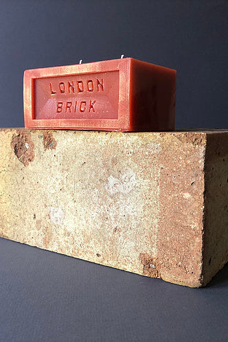 Fired Clay Brick Candle