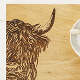 Etched Highland Cow Serving Board 30m