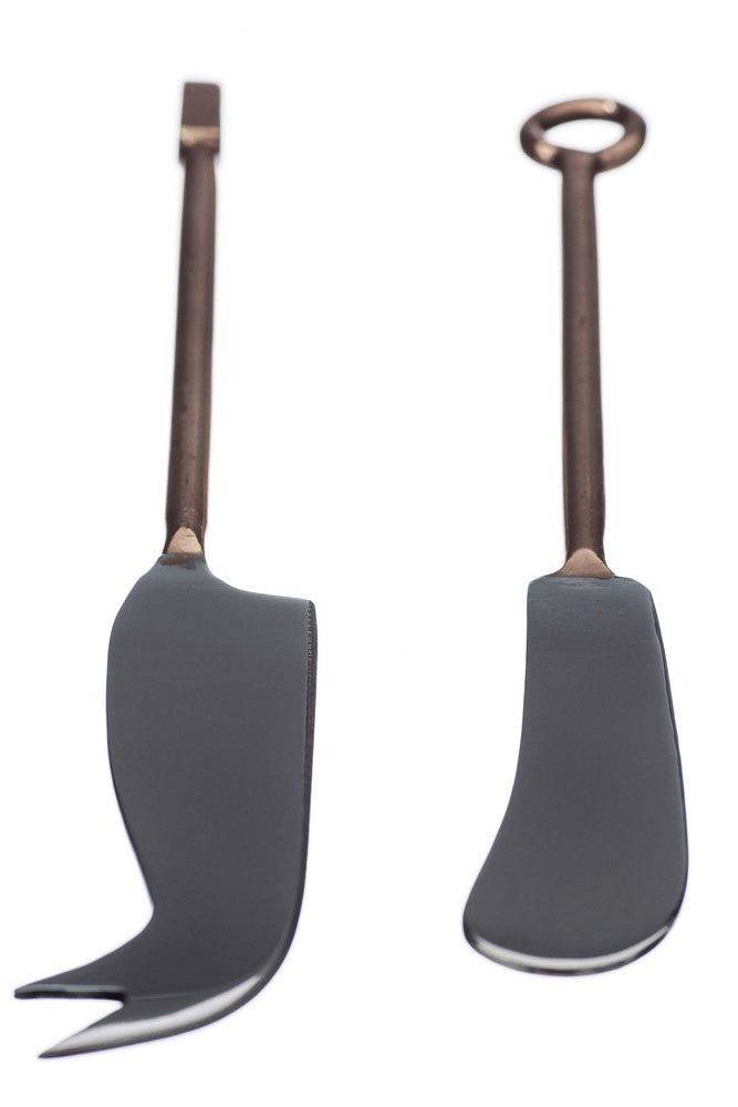 Set of 2 Copper Cheese Knives