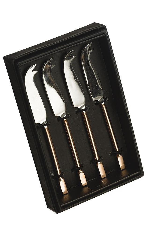 4 Mini Copper Cheese Knives