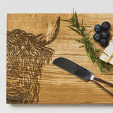 Cheese Board & Knife Set | Highland Cow