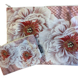 Make-Up Bag with Velvet Pouch | Pink Flowers
