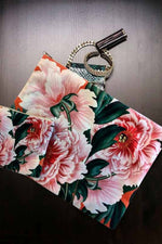 Make-Up Bag with Velvet Pouch | Red Flowers