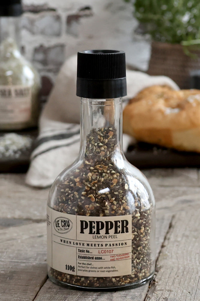 LE CRU Pepper with mill | Lemon Peel