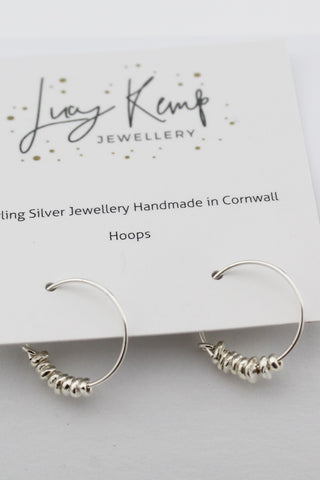 Silver Nugget Hoops