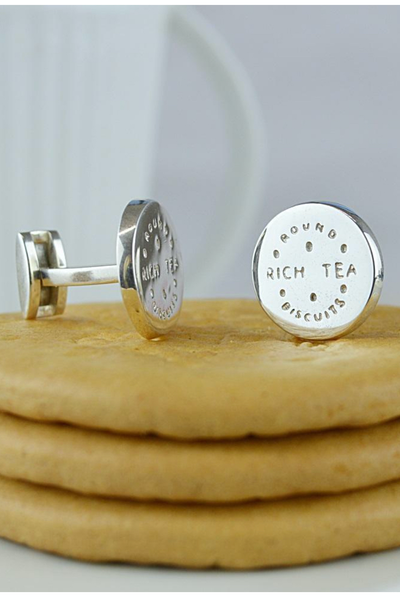 Silver Rich Tea Cufflinks