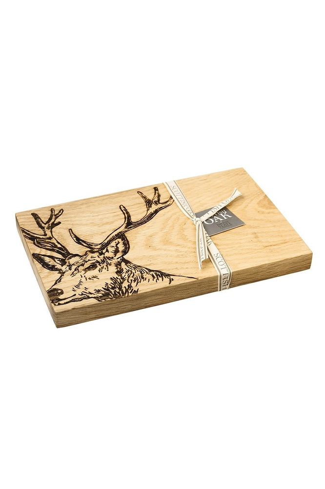 Etched Stag Serving Board 30cm