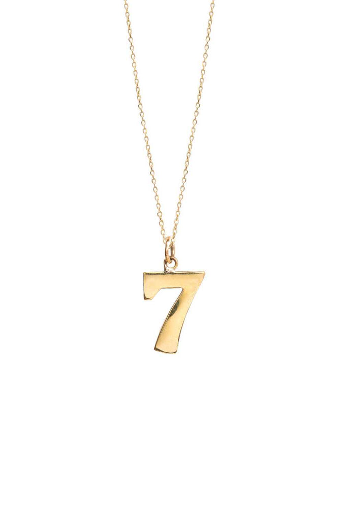 Luck No. 7 on Trace Chain | Gold