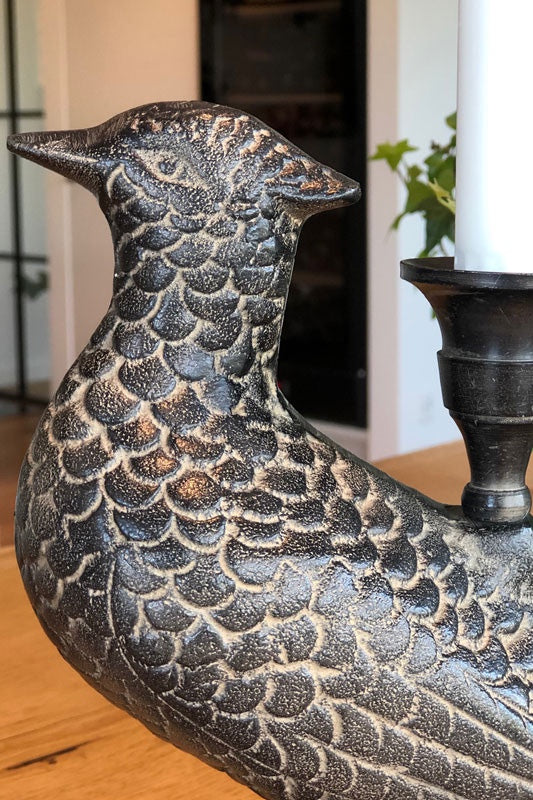 Chocolate Pheasant Candle Holder