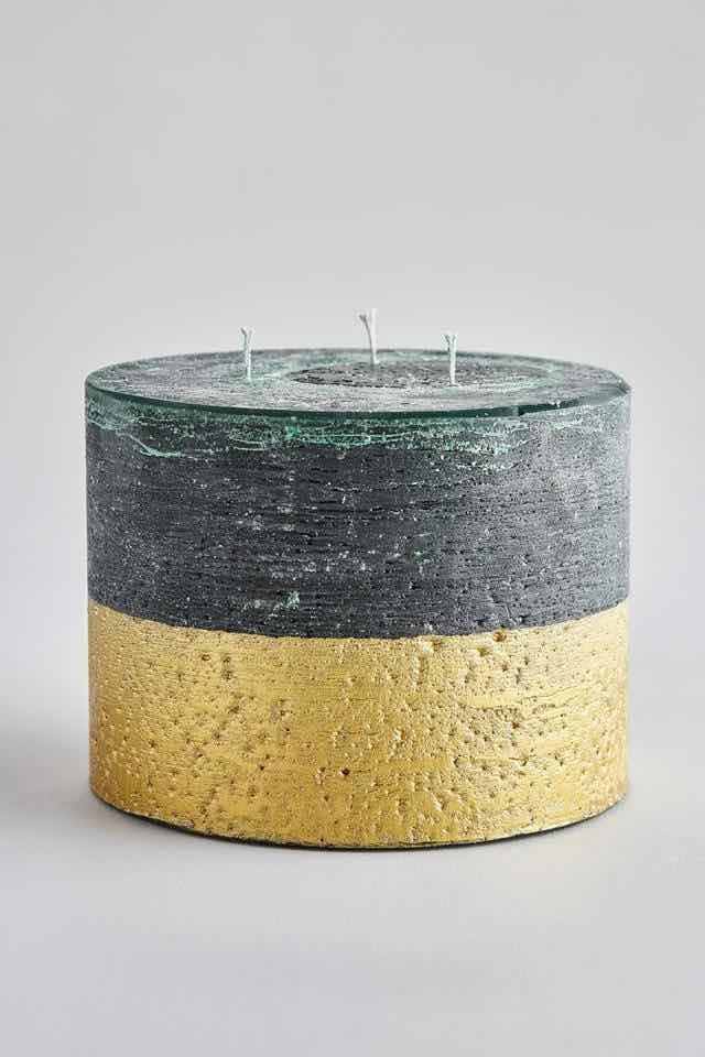 Winter Thyme Gold Half Dipped Multiwick Candle