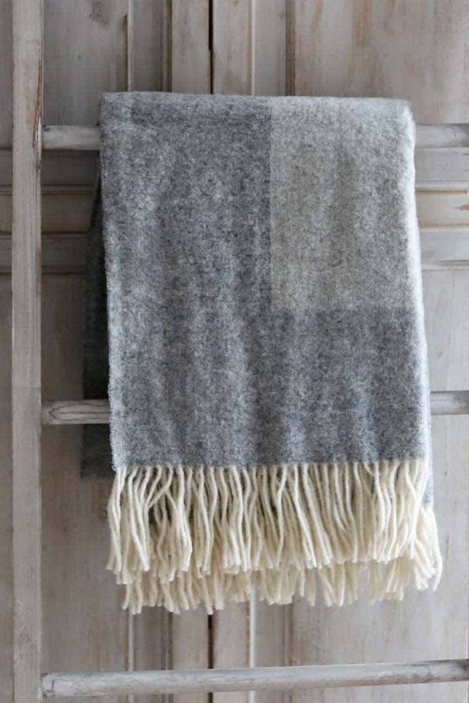 Wool Throw | Grey Two Tone