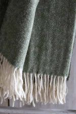 Wool Throw | Olive