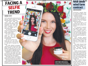 Courier Mail Selfie