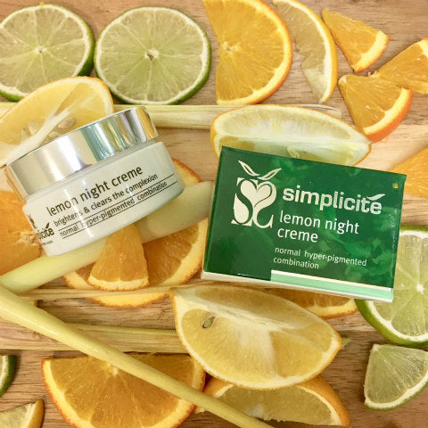 Lemon Night Creme is rich in medicinal quality citrus extracts