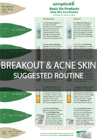 Breakout and acne skin routine
