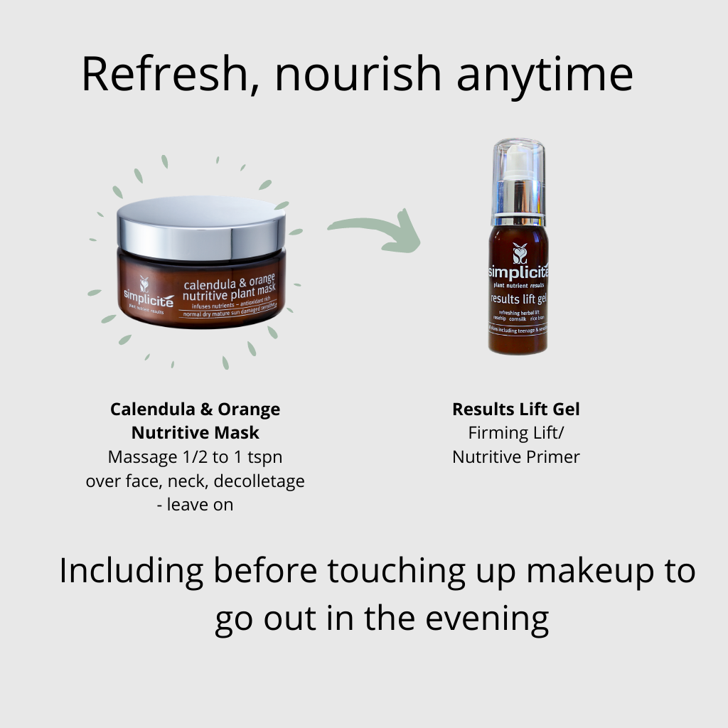 Natural organic skin care refresh skin before touching up makeup