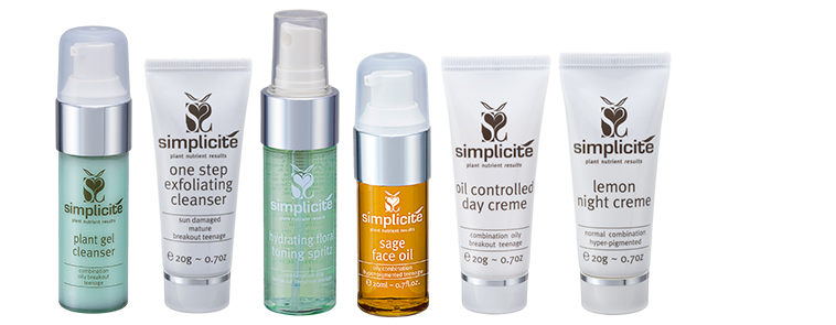 Simplicite international facial products