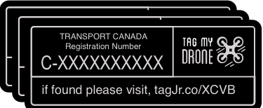 Transport Canada Drone Label | URL Black